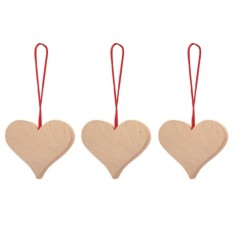 White heart hanging decoration 3-pack
