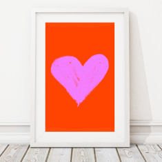Large limited edition heart print