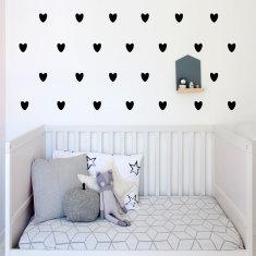 Hearts wall decal