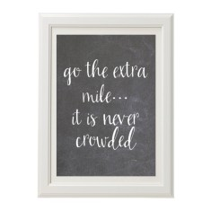 Go the extra mile motivational chalk style print
