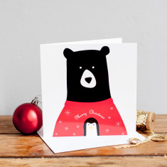 Christmas jumper bear card