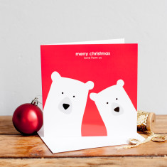 Merry Christmas from us bear couple card