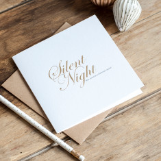 Silent night, that would be a miracle! Gold foil card