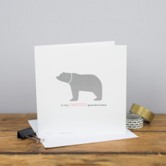 Sweetest grandma bear card