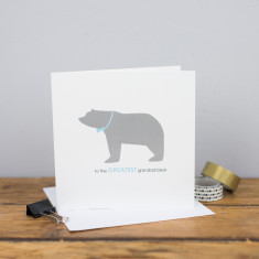 Greatest grandad bear card