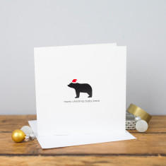 Merry Christmas baby bear card