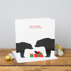 Merry Christmas mummy & daddy bear card