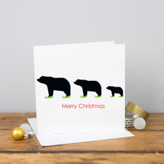 Merry Christmas elf bear card