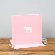 New baby bear card (pink or blue)