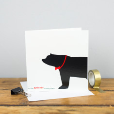 Bestest daddy bear card
