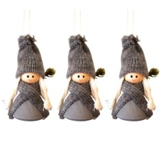Santa Hedda hanging decorations (set of 3) (various colours)