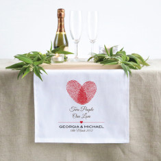 Personalised Two People One Love Table Runner (3 sizes)