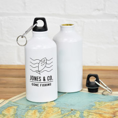 Gone Fishing Personalised Adventure Water Bottle