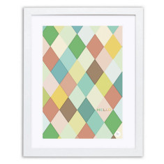Hello argyle art print