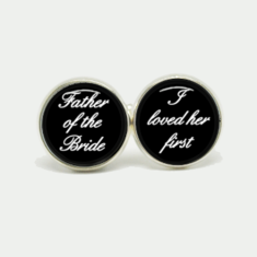 Father of the bride I loved her first silver or antique cufflinks