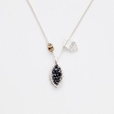 Elvi hematite tear necklace