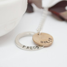 Two-Tone Circle Necklace