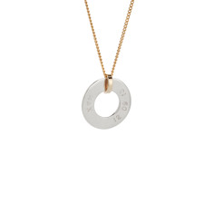 Henrietta sterling silver & 9ct gold personalised pendant