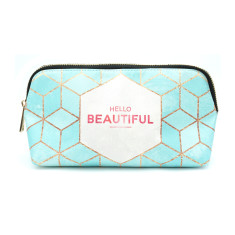 Hello Beautiful Mint Vegan Leather Small Make Up & Cosmetic Bag