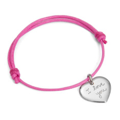Women's personalised heart charm bracelet