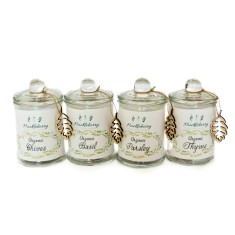 Mini organic herb jar combo (set of four jars)