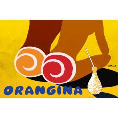 Orangina beach girls vintage poster print by Bernard Villemot