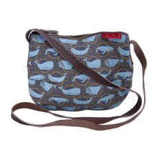 Tamelia cotton canvas Whale smile bag