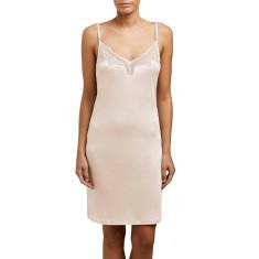 Silk Jersery Lace Slip - Petal