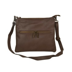 Jennifer taupe leather cross body bag