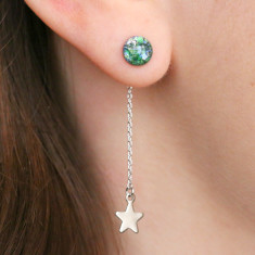 Earth & Stars Drop Earrings