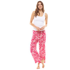 Tulip Crop Pant & Tank Set Pink & White