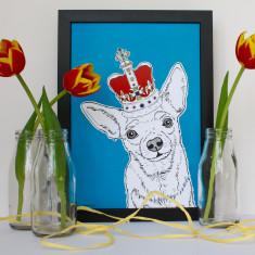 Chihuahua In A Crown Print