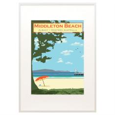 Vintage Albany Middleton Beach print