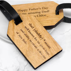 Personalised Dad Definition Luggage Tag