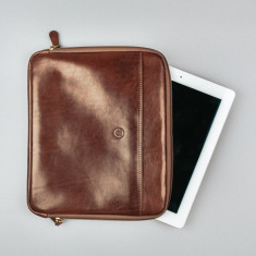 Personalised Luxury Italian Leather Laptop Case