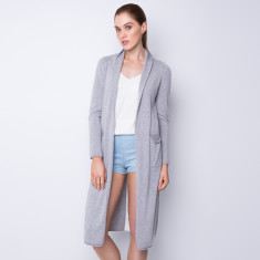 Split side long cardigan