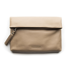 Lily clutch in dusty linen