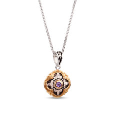 Sophia Sterling Silver & Gold Vermeil Amethyst Pendant