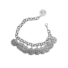 Antique silver coin bracelet