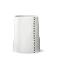 Hay Black grey print vase