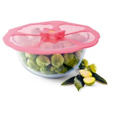 Hibiscus airtight silicone lid, splatter guard, cooking and reheating lid (various sizes)