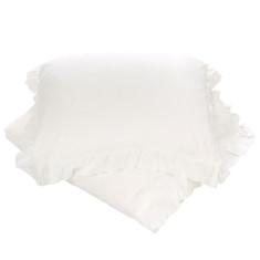 White linen doona cover set