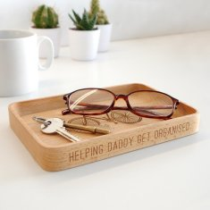 Personalised Wooden Bicycle Coin Tray