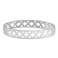 Moroccan bangle in sterling silver