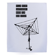 Hills Hoist happiness tea towel