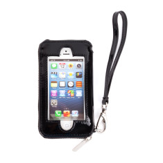 hiwally iphone wallet in black with a silver lining