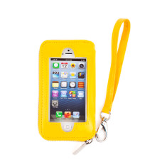 hiwally iphone wallet in yellow with silver lining
