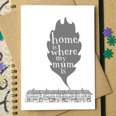 Home is where my mum is card