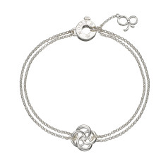 Love Knot Double Chain Bracelet