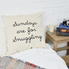 Sundays Are For Snuggling Cushion Cover